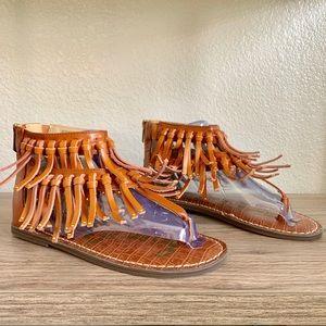 Sam Edelman Fringe leather sandals size 5